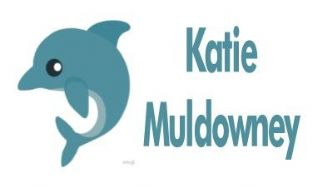 Personalised Cute Dolphin School Book Stickers